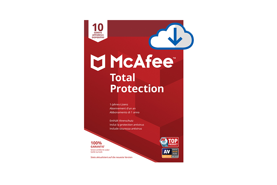 McAfee Total Protection (10 Geräte) inkl. McAfee Safe Connect Premium (5 Geräte) - Download