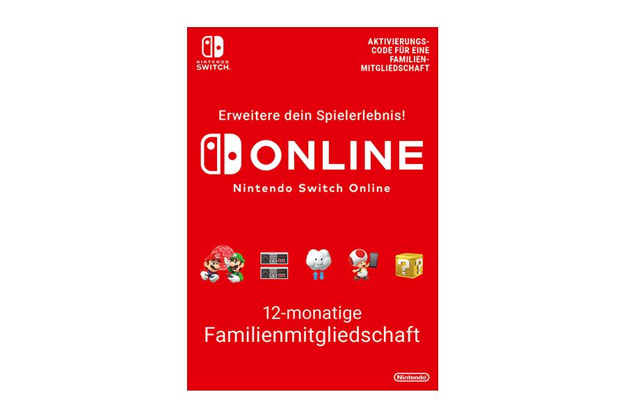 Nintendo Switch Online 12-monatige Familienmitgliedschaft