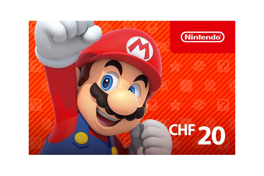Nintendo eShop funds CHF 20