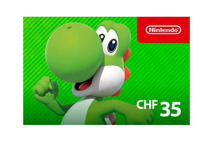 Nintendo eShop funds CHF 35