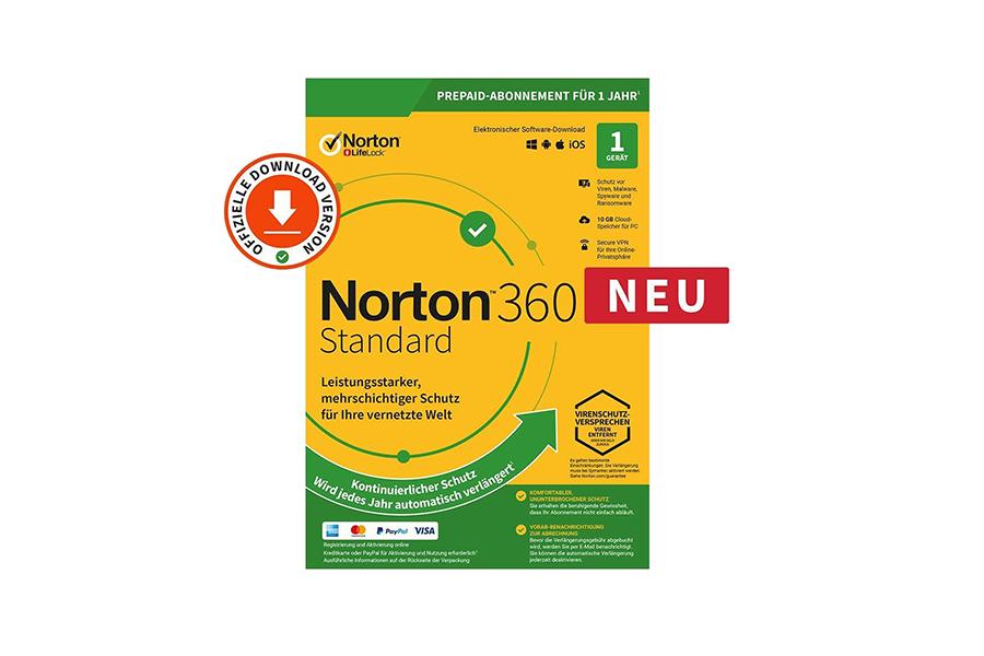 Norton 360 Standard (1 Jahr, 1 Gerät) - Download