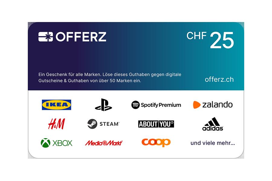 Offerz.ch Voucher CHF 25