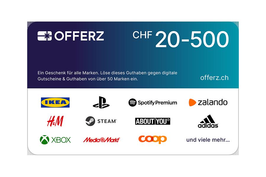 Offerz.ch Voucher CHF 20 - 500