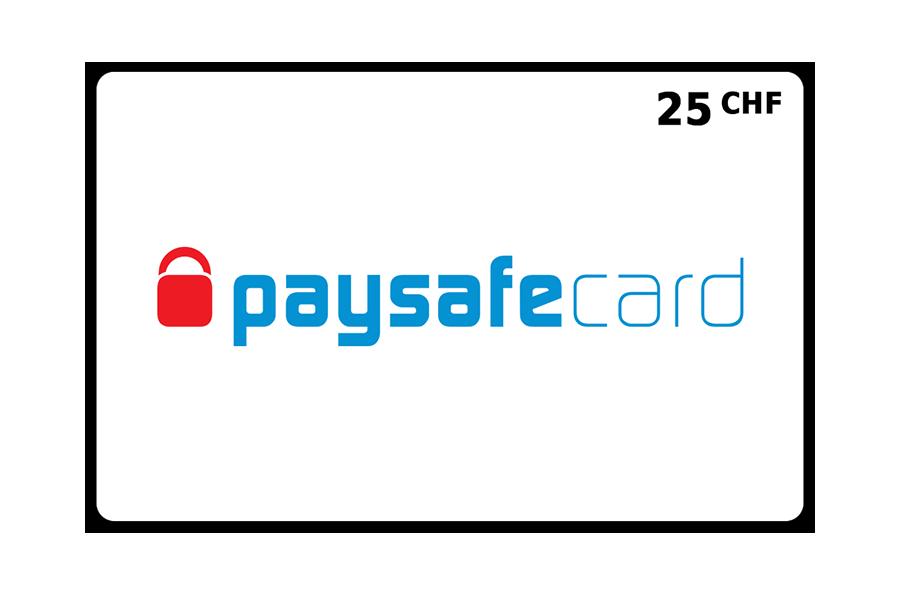 Paysafecard classic PIN CHF 25